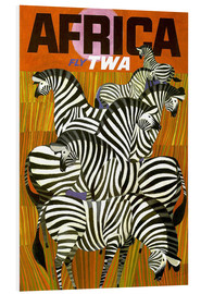 PVC-tavla  Africa Fly TWA - Travel Collection