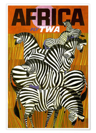 Premiumposter  Africa Fly TWA - Travel Collection