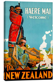 Canvastavla  Haere Mai welcome to New Zealand - Travel Collection
