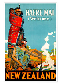 Premiumposter  Haere Mai welcome to New Zealand - Travel Collection