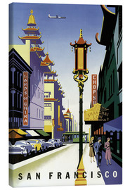 Canvastavla  United Air Lines San Francisco - Travel Collection