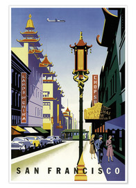 Premiumposter  United Air Lines San Francisco - Travel Collection