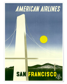 Premiumposter  American Airlines San Francisco - Travel Collection