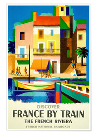 Premiumposter France by train