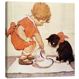Canvastavla  A Little Childs Book of Stories 2 - Jessie Willcox Smith