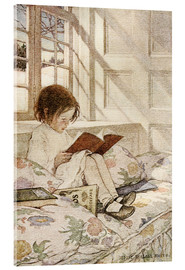 Akrylglastavla  Books in Winter - Jessie Willcox Smith