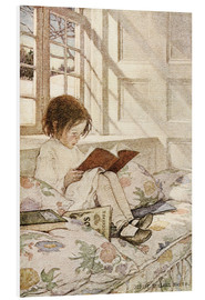 PVC-tavla  Picture books in winter - Jessie Willcox Smith
