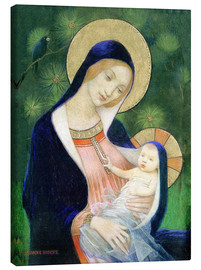 Canvastavla  Madonna of the Fir Tree - Marianne Stokes