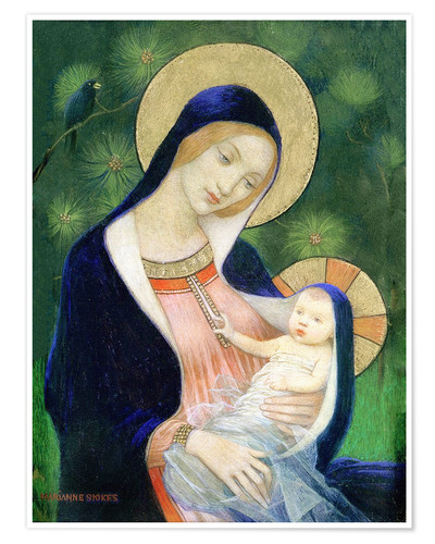 Premiumposter Madonna of the Fir Tree