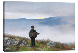 Canvastavla  Far, far away Soria Moria Palace shimmered like Gold - Theodor Kittelsen