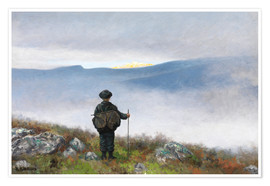 Premiumposter  Far, far away Soria Moria Palace shimmered like Gold - Theodor Kittelsen