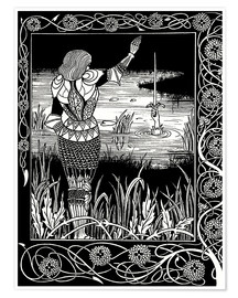 Premiumposter  How Sir Bedivere Cast the Sword Excalibur into the Water - Aubrey Vincent Beardsley
