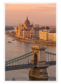 Premiumposter  Budapest late afternoon - FineArt Panorama
