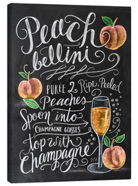 Canvastavla  Peach Bellini recept - Lily & Val