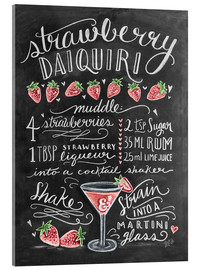 Akrylglastavla  Strawberry Daiquiri recept - Lily & Val