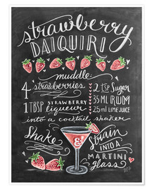 Poster  Strawberry Daiquiri recept - Lily & Val