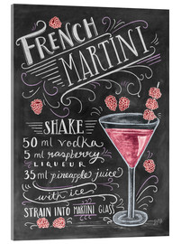 Akrylglastavla  French Martini recept - Lily & Val
