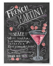 Poster  French Martini recept - Lily & Val