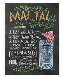 Poster  Mai Tai recept - Lily & Val