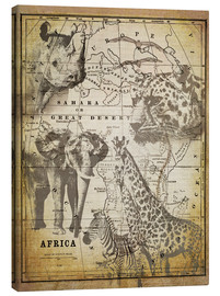 Canvastavla  The Spirit of Africa - Andrea Haase