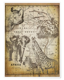 Premiumposter  The Spirit of Africa - Andrea Haase