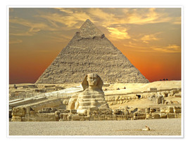 Premiumposter  Sphinx from Gizeh - Tina Melz
