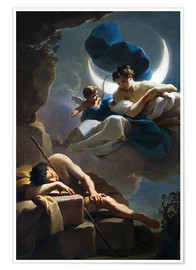 Premiumposter Selene and Endymion