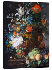 Canvastavla  Still Life with Flowers and Fruit - Jan van Huysum
