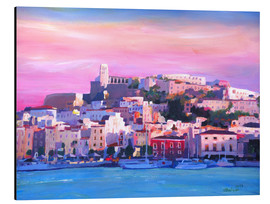 Aluminiumtavla  Ibiza Old Town and Harbour - Pearl Of the Mediterranean Sea - M. Bleichner
