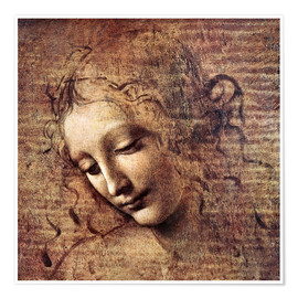 Premiumposter  Head of a Young Woman with Tousled Hair (La Scapigliata) - Leonardo da Vinci