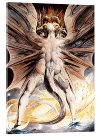 Akrylglastavla  The Great Red Dragon and the Woman Clothed with Sun - William Blake
