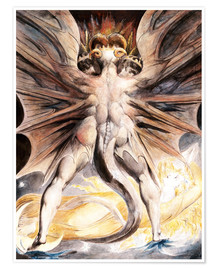Premiumposter  The Great Red Dragon and the Woman Clothed with Sun - William Blake
