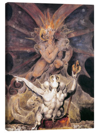 Canvastavla  The Number of the Beast is 666 - William Blake