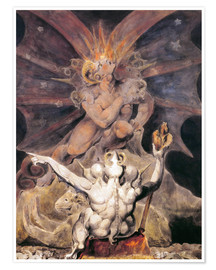 Premiumposter  The Number of the Beast is 666 - William Blake