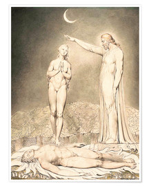 Premiumposter  the creation of eve - William Blake