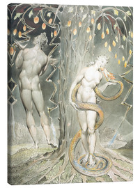 Canvastavla  Adam and Eve - William Blake