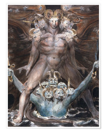 Premiumposter  the great red dragon and the beast from the sea - William Blake