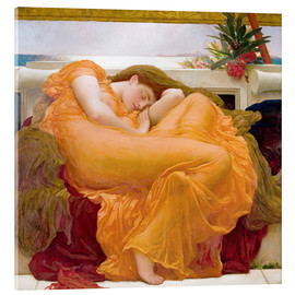 Akrylglastavla  Flaming June - Frederic Leighton