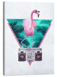 Canvastavla  Miami Flamingo - Robert Farkas