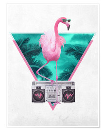 Premiumposter  Miami Flamingo - Robert Farkas