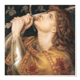 Premiumposter  Knight with sword - Dante Charles Gabriel Rossetti