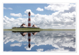 Premiumposter Lighthouse at the Northsea