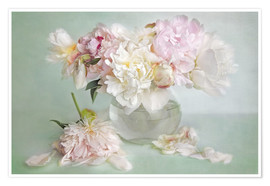 Premiumposter  still life with peonies - Lizzy Pe
