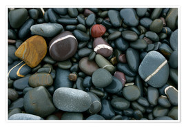 Premiumposter  Pebbles on a beach - Keith Wheeler
