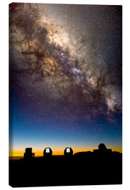 Canvastavla  Mauna Kea telescopes and Milky Way - David Nunuk