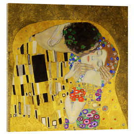 Akrylglastavla  The Kiss (detail cross) - Gustav Klimt