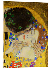 Akrylglastavla  The Kiss (detail) - Gustav Klimt