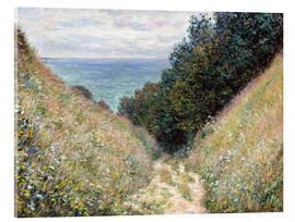 Akrylglastavla  Road at La Cavée, Pourville - Claude Monet