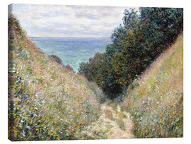 Canvastavla  Road at La Cavée, Pourville - Claude Monet
