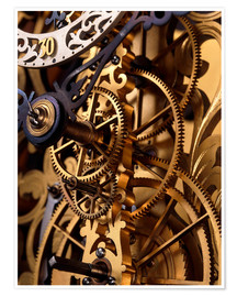 Premiumposter Internal gears within a clock
